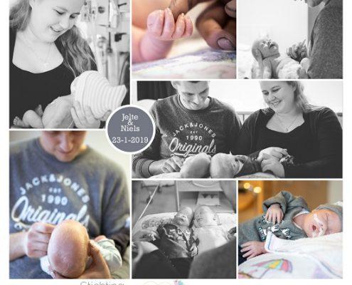 Jelte & Niels prematuur geboren met 29 weken, Tjongerschans, tweeling, vroeggeboorte, sonde