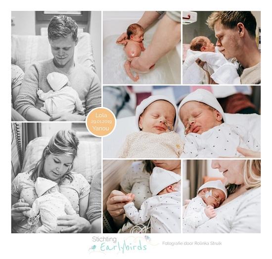 Lola & Yanou prematuur geboren met 33 weken en 4 dagen, St. Jansdal, sonde, tweeling