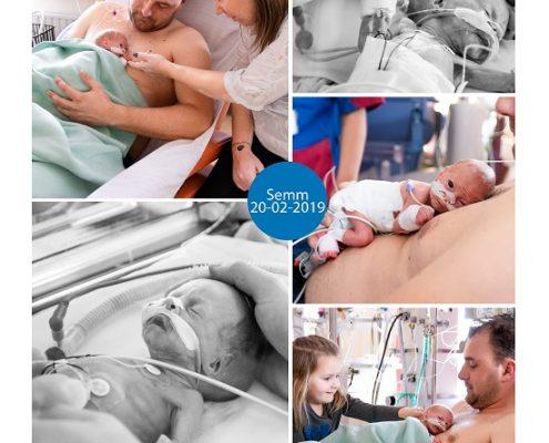 Semm prematuur geboren met 31 weken, Amphia Breda, antibiotica, buidelen, sonde