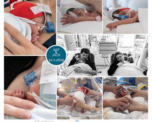Art & Jack prematuur geboren met 27+ weken, tweeling, WKZ, gebroken vliezen, CPAP, sonde, buidelen