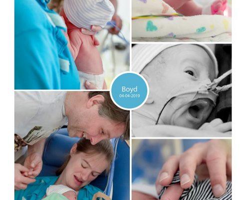 Boyd prematuur geboren met 29 weken, Isala Zwolle, NICU, CPAP, sonde