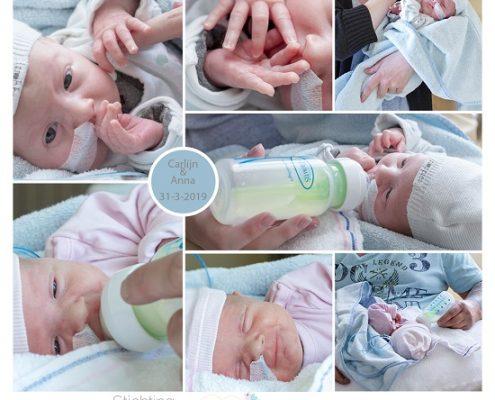 Carlijn & Anna prematuur geboren met 33 weken, tweeling, Isala Zwolle, gebroken vliezen, sonde