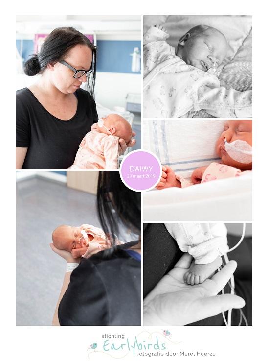 Daiwy prematuur geboren met 32 weken, Rivierenland ziekenhuis, gebroken vliezen, spoedkeizersnede, sonde