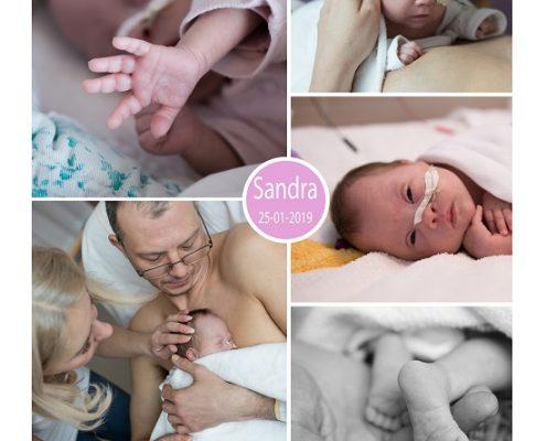 Sandra prematuur geboren met 28 weken, sonde, vroeggeboorte, ziekenhuis