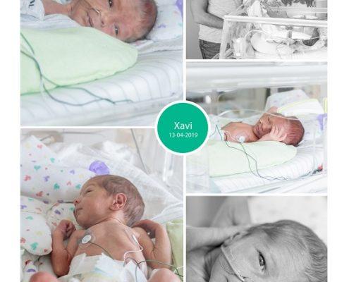 Xavi prematuur geboren met 33 weken, Spaarna ziekenhuis, sonde, couveuse