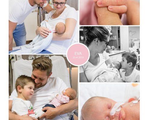Eva prematuur geboren met 33 weken en 3 dagen, Bravis moeder en Kind, couveuse, gebroken vliezen, longrijping, weeenremmers, stuitligging, keizersnede, sonde