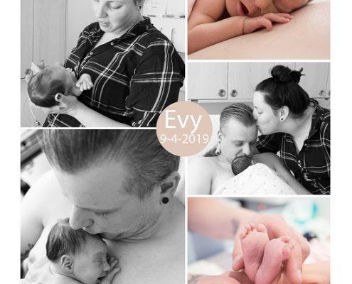Evy prematuur geboren met 33 weken en 6 dagen, gebroken vliezen, longrijping, weeenremmers, couveuse, sondevoeding, Elkerliek