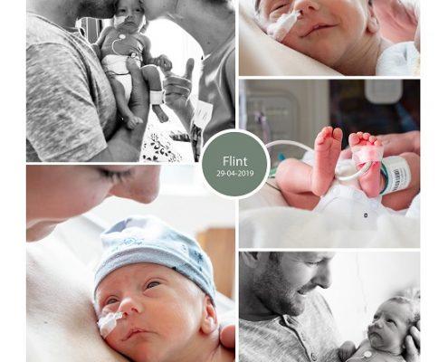 Flint prematuur geboren met 30 weken en 3 dagen, Ropcke Zweers, gebroken vliezen, longrijping, weeenremmers, CPAP, NICU, sonde