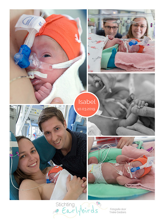 Isabel prematuur geboren met 27 weken, HELLP, WKZ, CPAP, sonde