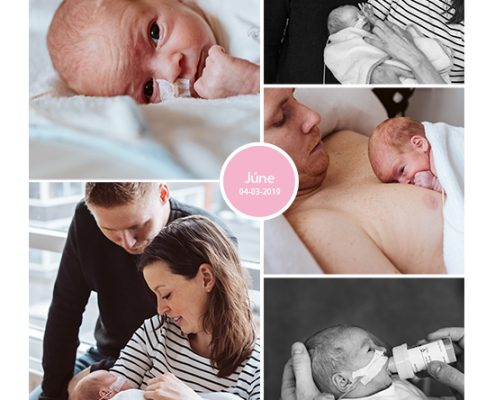 Júne prematuur geboren met 34 weken, Medisch Centrum Alkmaar, sonde, buidelen