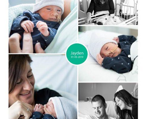Jayden prematuur geboren met 34 weken en 3 dagen, Groene Hart ziekenhuis, spoedkeizersnede, groeiachterstand, zwangerschapsvergiftiging, couveuse, sonde