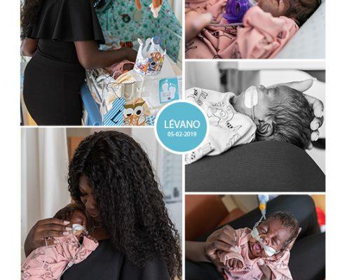 Lévano prematuur geboren met 24 weken, St. Franciscus Gasthuis, sondevoeding