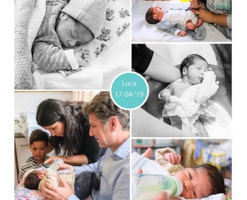 Luca prematuur geboren met 35 weken, van Weel Bethesda Dirksland, gebroken vliezen