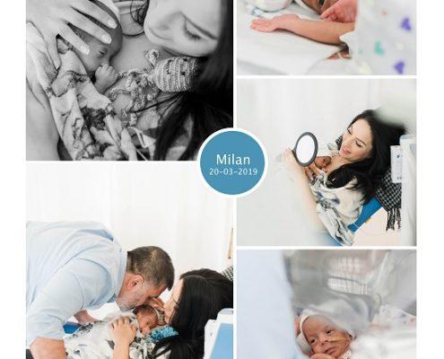 Milan prematuur geboren met 30 weken, Maasstad ziekenhuis, couveuse, buidelen, zwangerschapsvergiftiging, keizersnede, borstvoeding, sonde