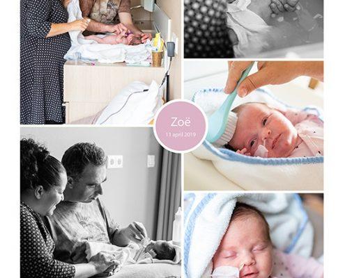 Zoë prematuur geboren met 32 weken, Bernhoven, zwangerschapsvergiftiging, sonde