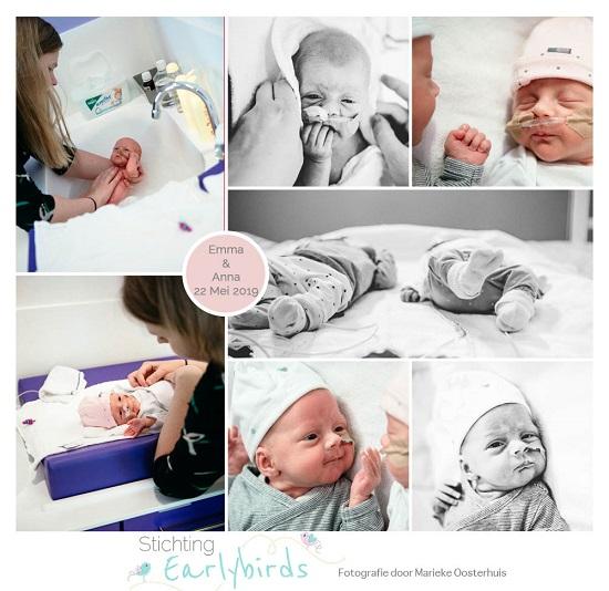 Emma & Anna prematuur geboren met 32 weken en 2 dagen, tweeling, TTTS, LUMC, UMCG, keizersnede, Martini ziekenhuis, sonde
