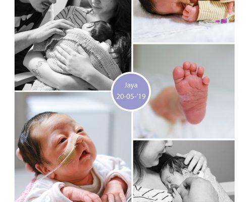 Jaya prematuur geboren met 32 weken, flesvoeding, buidelen, sonde