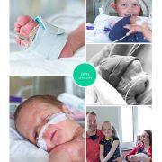 Jens prematuur geboren met 31+ weken, MCL, couveuse, sonde, UMCG, CPAP