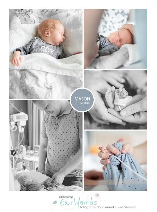 Mason prematuur geboren met 30 weken, OZG Scheemda, UMCG, longrijping, ruggenprik, sonde, keizersnede