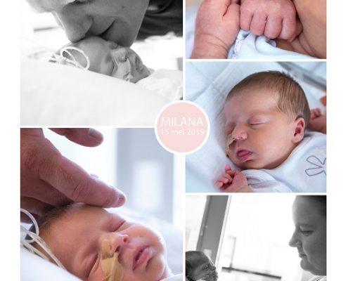 Milana prematuur geboren met 34 weken, Bravis Bergen op Zoom, gebroken vliezen, sonde