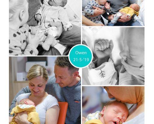 Owen prematuur geboren met 33 weken, sonde, vroeggeboorte
