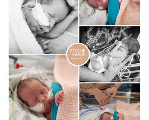 Pomme Hansje prematuur geboren met 29 weken, sonde, couveuse, vroeggeboorte