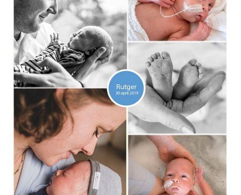 Rutger prematuur geboren met 32 weken, weeenremmers, couveuse, knuffelen, flesvoeding, sonde