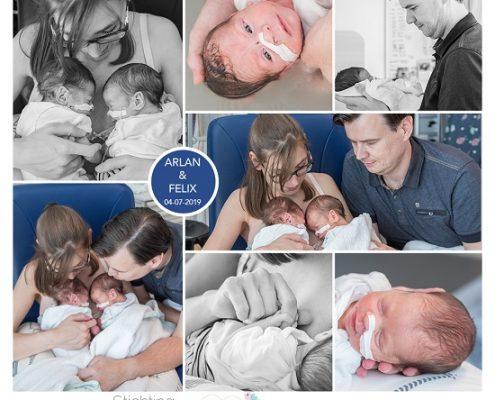 Arlan & Felix prematuur geboren met 32 weken en 6 dagen, tweeling, weeenremmers, longrijping, JKZ, borstvoeding, sonde