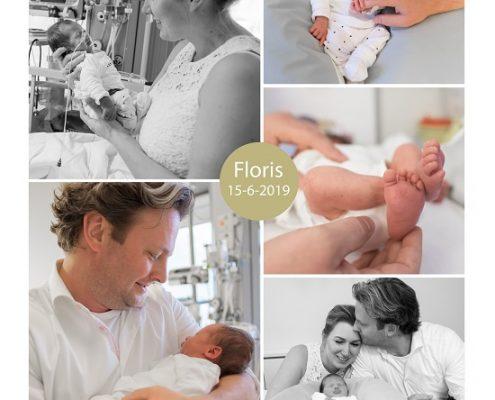 Floris prematuur geboren met 33 weken, MMC, weeenremmers, longrijping, bedrust