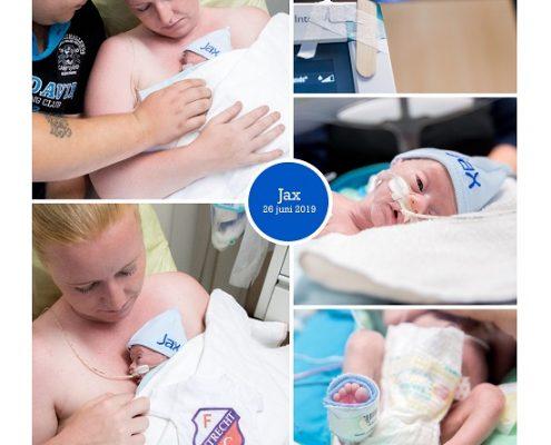 Jax prematuur geboren met 31 weken, WKZ, sonde, buidelen