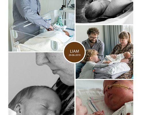 Liam prematuur geboren met 33 weken, Spaarne Haarlem, gebroken vliezen, keizersnede, sonde
