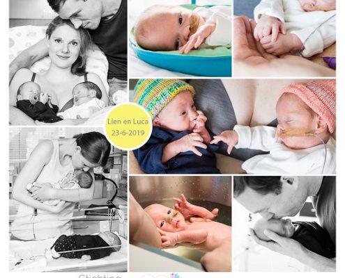 Luca & Lien prematuur geboren met 30 weken en 3 dagen, tweeling, St. Jans Gasthuis, gebroken vliezen, NICU, sonde
