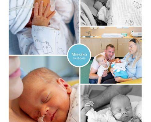 Mieszko prematuur geboren met 33 weken, spoedkeizersnede, couveuse, sonde