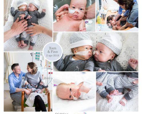 Xam & Finn prematuur geboren met 28 weken, tweeling, WKZ, knuffelen