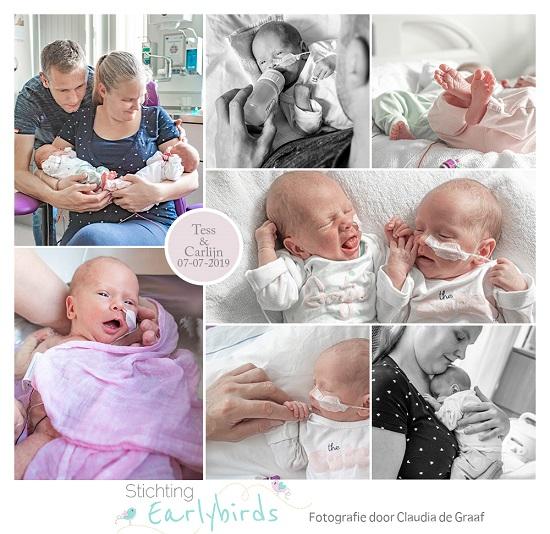 Carlijn & Tess prematuur geboren met 33 weken en 4 dagen, tweeling, lkeizersnede, longrijping, MST Enschede, sonde, borstvoeding