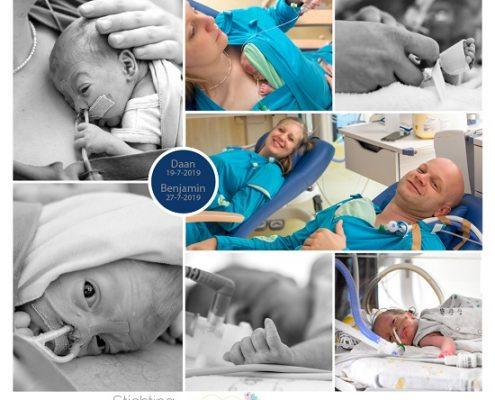 Daan & Benjamin prematuur geboren met 27 weken, Isala Zwolle, tweeling, gebroken vliezen, weeenremmers, longrijping, nicu, buidelen, sonde
