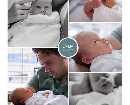 Emma prematuur geboren met 33 weken, ZGT Almelo, couveuse, sonde