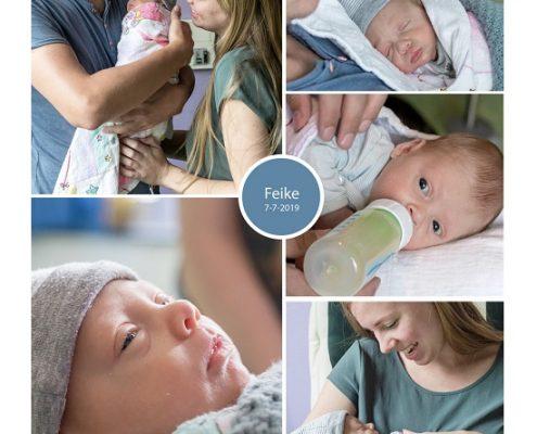 Feike prematuur geboren met 31+ weken, MCL Leeuwarden, knuffelen, vroeggeboorte