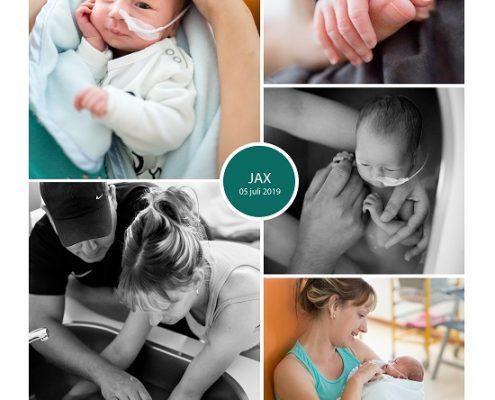 Jax prematuur geboren met 33 weken, St. Antonius, sonde, vroeggeboorte