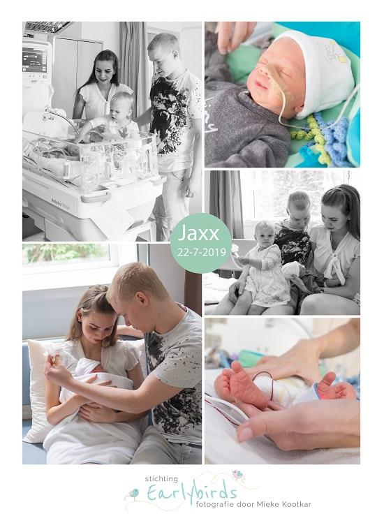 Jaxx prematuur geboren met 32 weken en 3 dagen, weeenremmers, longrijping, Radboud MC, couveuse, Elkerliek, sonde