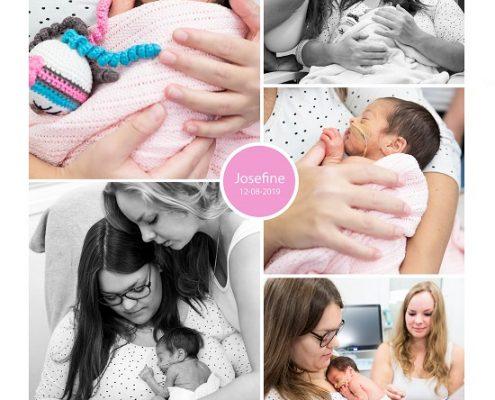 Josefine prematuur geboren met 30 weken en 3 dagen, UMCG, couveuse, bloedvergiftiging, antibiotica, buidelen, sonde