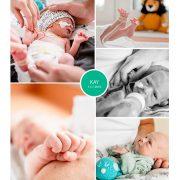 Kay prematuur geboren met 32 weken, spoedkeizersnede, flesvoeding, sonde