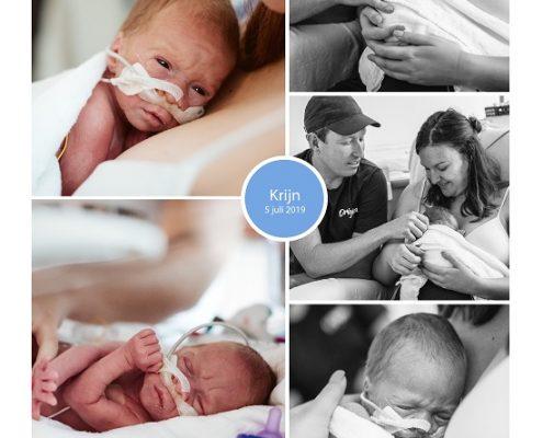 Krijn prematuur geboren met 32 weken, MCAlkmaar, zwangerschapsvergiftiging, keizersnede, couveuse, buidelen, sonde