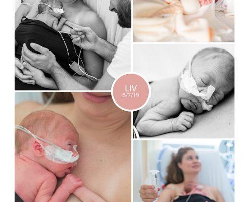 Liv prematuur geboren met 29 weken, sonde, buidelen, vroeggeboorte