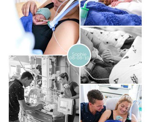 Sophie prematuur geboren met 26 weken, Sophia ziekenhuis, neonatologie, zwangerschapsvergiftiging, couveuse, buidelen, sonde