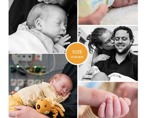Suze prematuur geboren met 28 weken en 4 dagen, groeiachterstand, pre-eclampsie, Radboud UMC, longrijping, keizersnede, CPAP