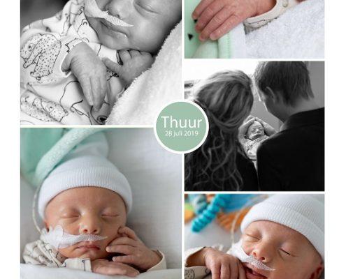 Thuur prematuur geboren met 32 weken, weeenremmers, sonde, vroeggeboorte