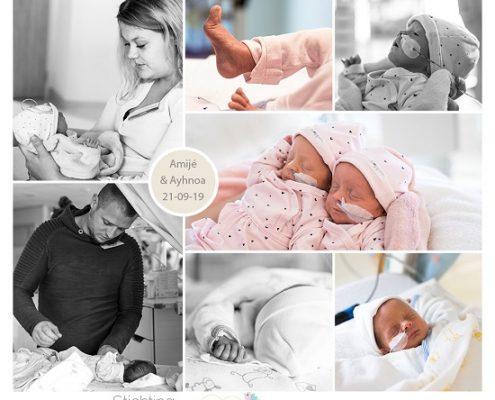 Ayhnoa & Amijé prematuur eboren met 33 weken, Isala Zwolle, tweeling, vroeggeboorte