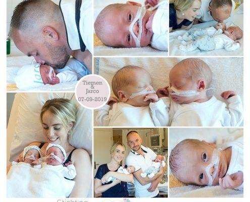 Jarco & Tiemen prematuur geboren met 33 weken, tweeling, Tjongerschans, buidelen, sonde