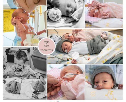 Kyan & Yara prematuur geboren met 31 weken, Isala Zwolle, gebroken vliezen, couveuse, NICU, sonde